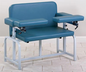 Bariatric Blood Drawing Chair with Flip-Arms - Clinton Industries