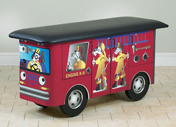 Pediatric Examination Table Engine K-9 with Dalmation Firefighters - Clinton Industries