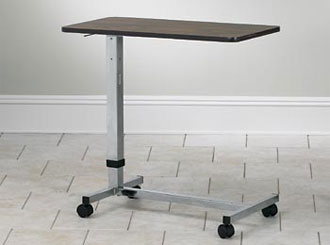 Over Bed Table Walnut Laminated Top - Clinton Industries