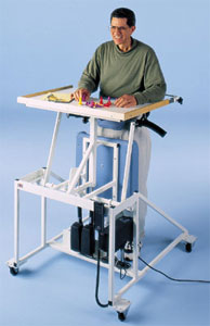 Hi-Lo Econo-Line Stand-in Table with Electric Patient Lift - Hausmann