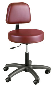 Gas-Lift Stool w/ Adjustable Backrest - Winco