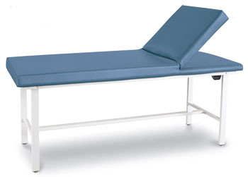 Exam Table Steel Leg w/ Adj Backrest - Winco
